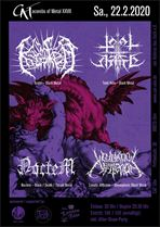 KRATER, TOTAL HATE, NOCTEM und LUNATIC AFFLICTION am 22.02.2020 im CAT in Ulm