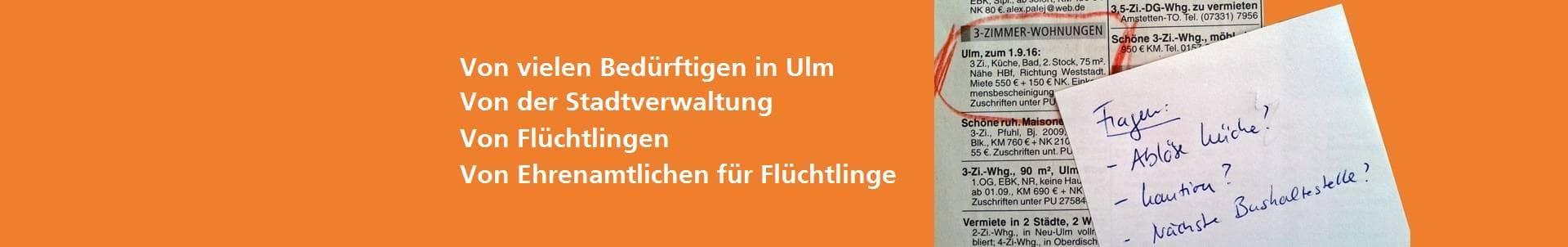 Stadt Ulm Wohnraum Gesucht